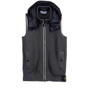 Stone Island Waistcoat with  FOLDED WIND RESISTANT JACKET IN COLLAR 5815549D1