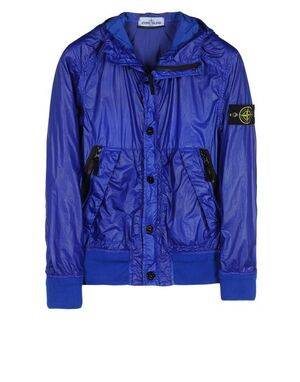 Stone Island Hooded bomber jacket in Glass 581544B34